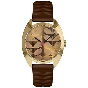 Orla Kiely | Ladies Beatrice | Mustard Dial | Brown Strap OK2294 Watch