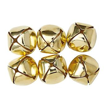 6 Gold 40mm Jingle Bells for Crafts | Craft Bells | Arts & Crafts