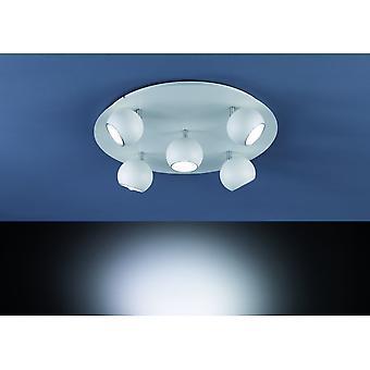 Trio Lighting Dakota Modern White Matt Metal Ceiling Lamp
