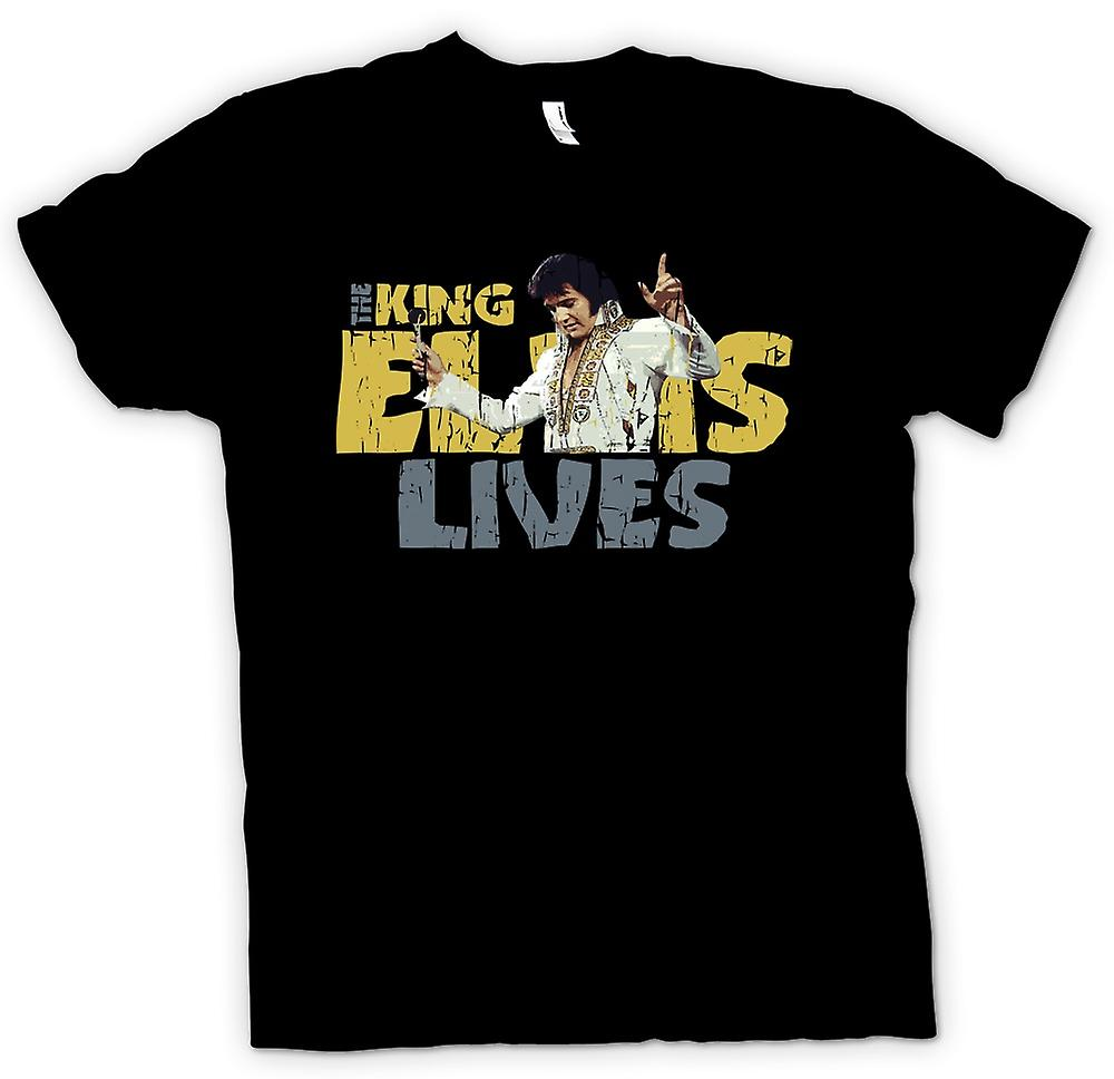 Mens T-shirt - le roi - Elvis vit