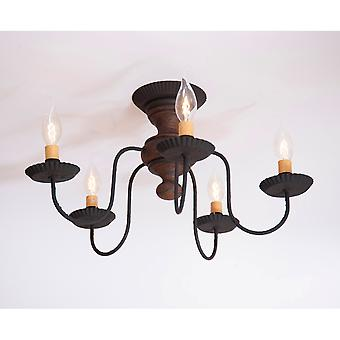 Irvin's Country Tinware Thorndale Ceiling Light in Hartford Pumpkin