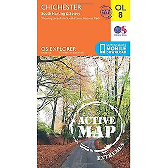 OS Explorer ACTIVE OL8 Chichester, South Harting & Selsey (OS Explorer Map Active)