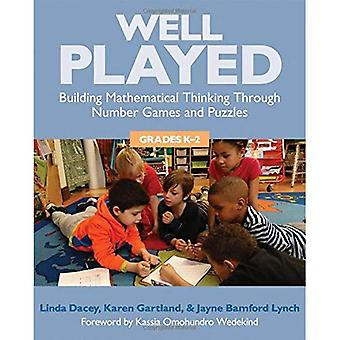 Well Played: Building Mathematical Thinking Through Number Games and Puzzles, Grades K-2