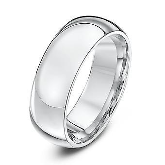 Star anneaux de mariage Palladium 950 lourds Cour 7mm bague de mariage