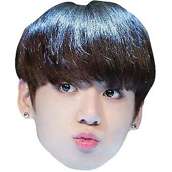 Jungkook von BTS Bangtan jungen 2D Karte Partei Gesichtsmaske