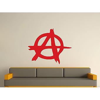 Anarki Symbol Wall Art klistermärke - Cherry röd