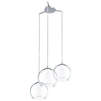Eglo - Bolsano 3 lampadario soffitto luce cromo lucido EG92762