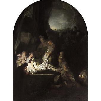 Begravelsen av Kristus, Rembrandt, 50x37cm