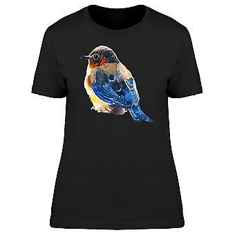 Robin mit blauen Tee wieder Damen-Bild von Shutterstock