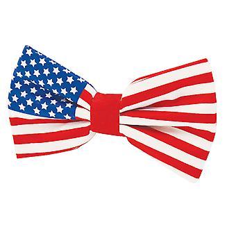 Dobell Mens Stars and Stripes USA Flag Bow Tie Pre-Tied