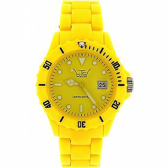 Unisex LTD Adult Analogue Yellow Plastic Strap Watch - Limited Edition