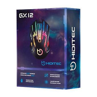 Mouse Gaming Hiditec GMO010002 2400 DPI nero