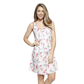 Cyberjammies 4203 Women's Evie Ivory Off-White Hummingbird Print Cotton Chemise