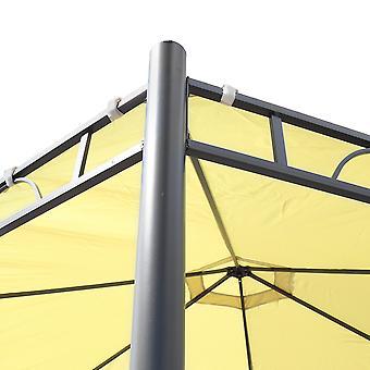 Charles Bentley 3.5 m hexagonal bege pátio gazebo jardim outdoor festa Marquee
