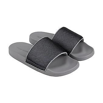 Steve Madden Mens grau Leinwand Slip auf Folien Sandalen Schuhe