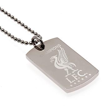 Liverpool Champions Of Europe Engraved Pendant & Chain DT