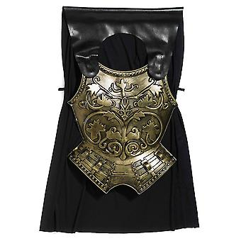 Bristol Novelty Mens Roman Chest Plate With Cape