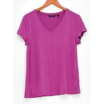 H by Halston Women ' s top Essentials V-hals roze A306231