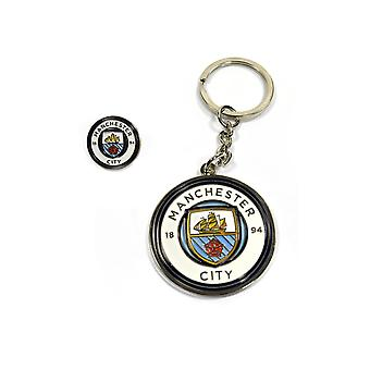 Porte-clés de Manchester City - Badge Man City