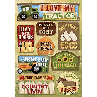 Farm Cardstock Stickers 5.5