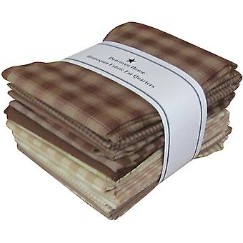 Fat Quarter Bundles Brown Natural Homespun 12 Pieces 18