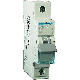 Circuit breaker 1-pin 10 A Hager MBN110