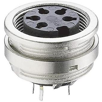 DIN connector Socket, vertical vertical Number of pins: 4 Silver Lumberg KFR 40 1 pc(s)