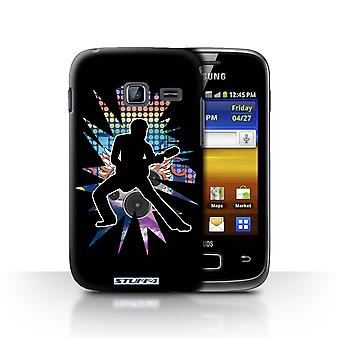 STUFF4 Case/Cover for Samsung Galaxy Y Duos/S6102/Stretch Black/Rock Star Pose