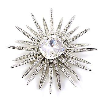 Kenneth Jay Lane Crystal Starburst Brooch