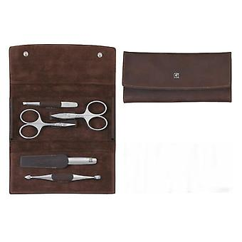 Zwilling Zippered case, Skin Legitima, Brown, 5 Pieces