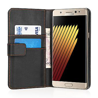 Yousave Accessories Samsung Galaxy Note 7 LeatherEffect Wallet Case Black