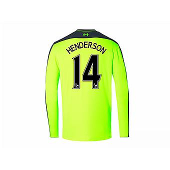 2016-17 Liverpool Third Long Sleeve Shirt (Henderson 14)