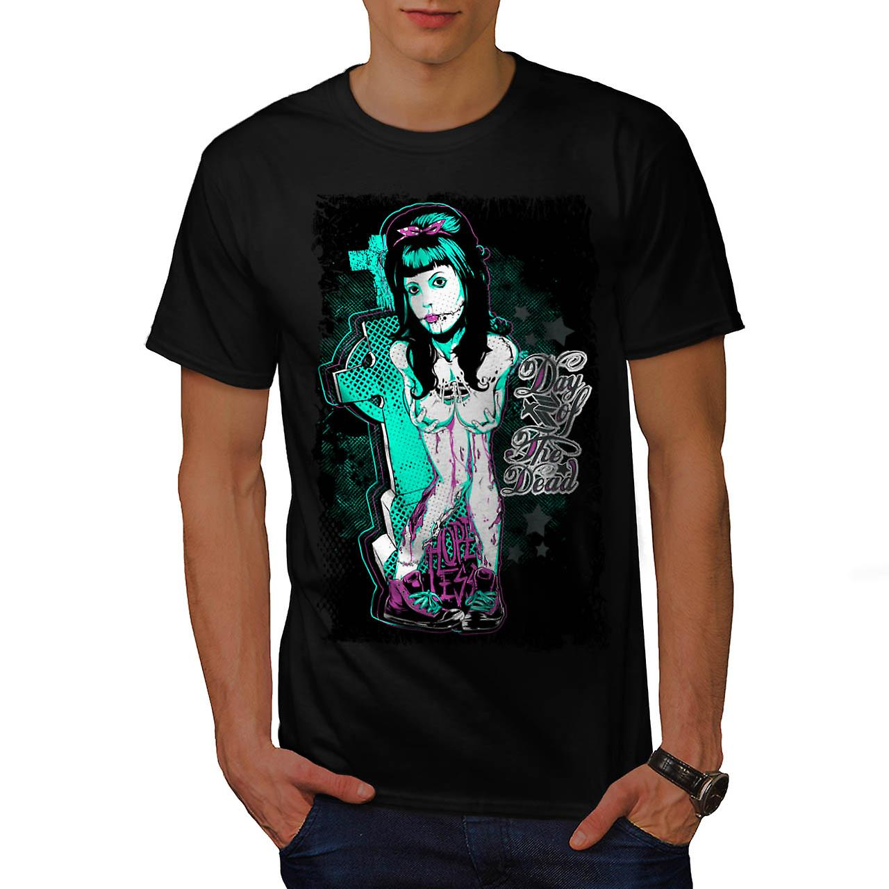 Day of The Dead Girl Hopeless Men Black T-shirt | Wellcoda