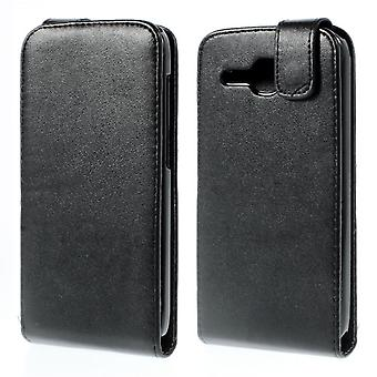 Type PU leather Flip cover for Huawei Ascend Y600 (black)