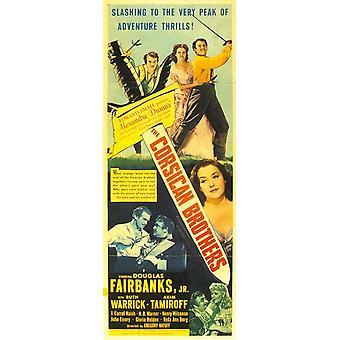 Den korsikanske Brothers film plakat (11 x 17)