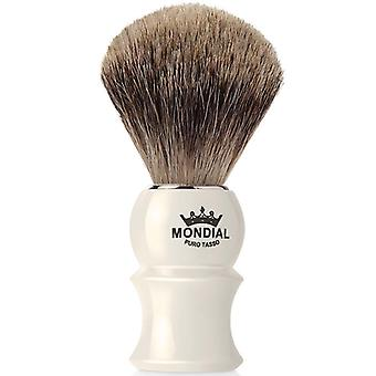 Mondial James Best Badger Shaving Brush Faux Ivory