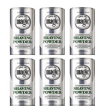 Magic Shaving Powder Aloe, Platinum 127g (6-PACK)