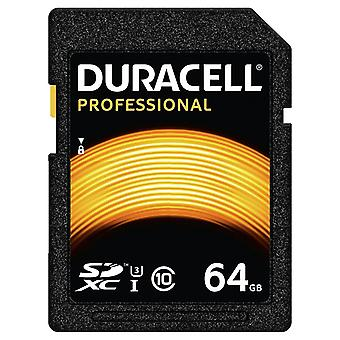 DURACELL 64GB SDXC Class 10 UHS-I U3. High Speed 600x. Ideal for 4K HD Video.