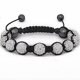 Iced Out Unisex Armband - Disco Ball NINE silber
