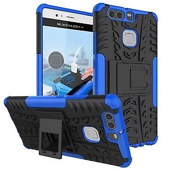 NEX style hybrid case 2 piece outdoor blue for Huawei P9 bag case cover protection
