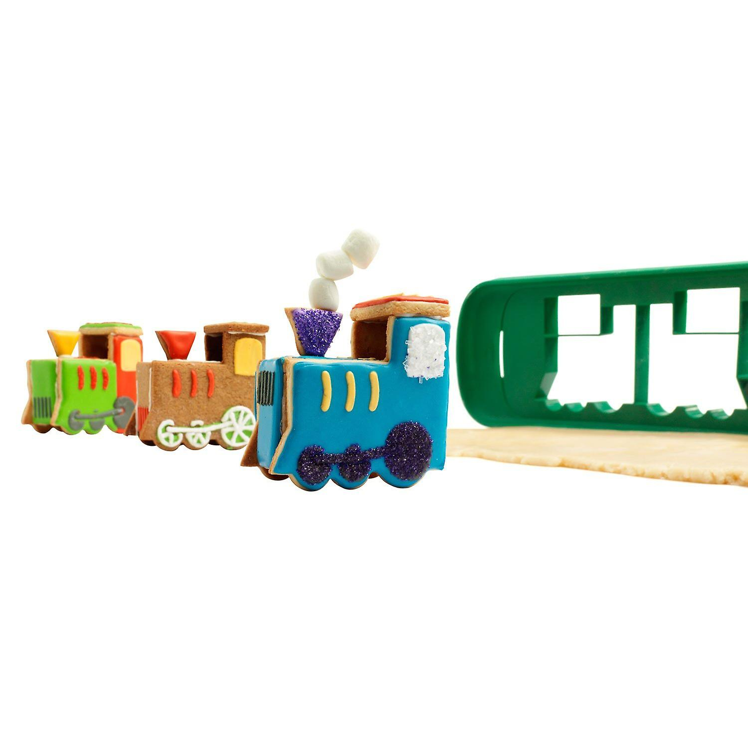 Chef'n Cookease 3D Cookie Cutter and Stencil, Train
