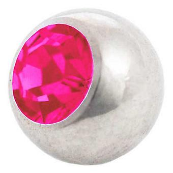 Piercing Replacement Ball, Fuchsia | 1,6 x 4, 5 and 6 mm, Body Jewellery