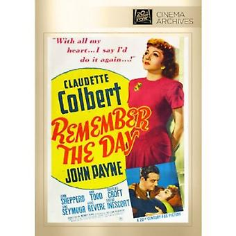 Remember the Day [DVD] USA import