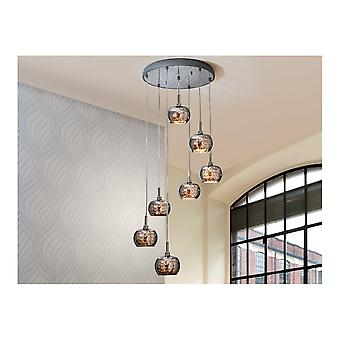 Schuller Arian 7 Glass Dome Cluster Ceiling Pendant