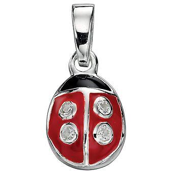 925 Silber Halskette Marienkäfer