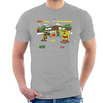 Springfield Fighter Street Fighter Simpsons Barney Zangief Apu Dhalism mænd T-Shirt