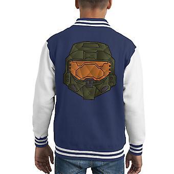Master Chief Polygon Halo Kid's Varsity Jacket