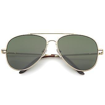 Große klassische Pilotenbrille der Full Metal Teardrop flache Linse 60mm