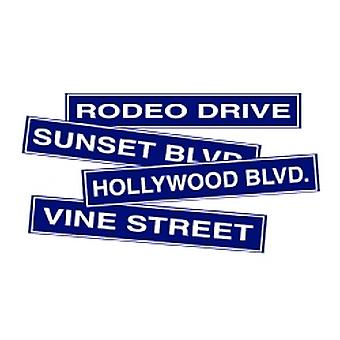 Hollywood Street Sign Cardboard Cutouts