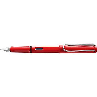 Lamy Safari Steel Nib Plastic Fountain Pen  - Red